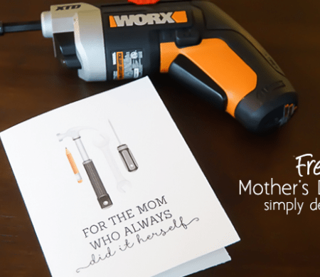 Free Mother's Day Card Printable + Gift Idea