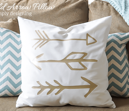 DIY Gold Arrow Pillows
