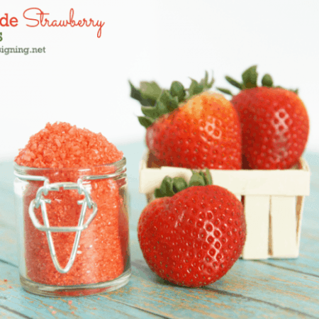 Homemade Strawberry Bath Salts
