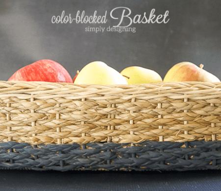 Color Blocked Basket
