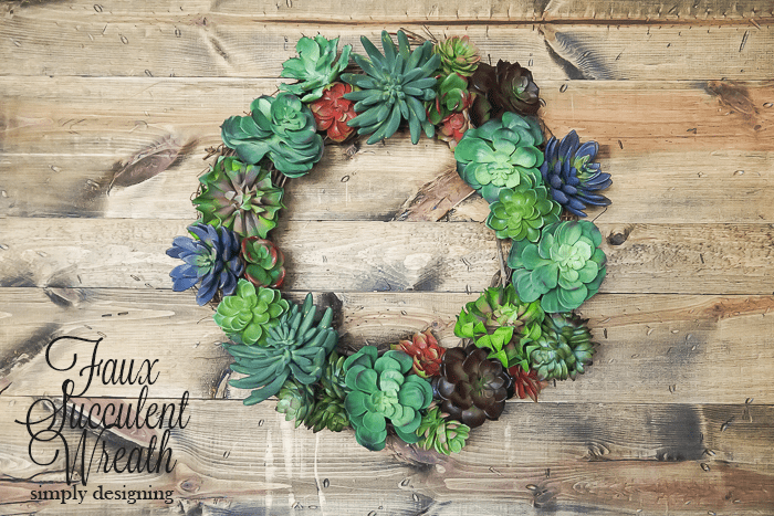 How to make a Faux Succulent Wreath - Pottery Barn Knock Off