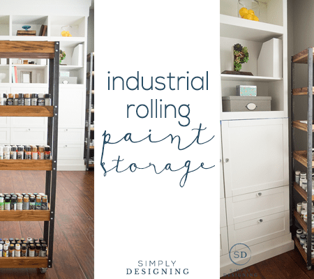 Industrial Rolling Paint Storage : Craft Room : Part 8