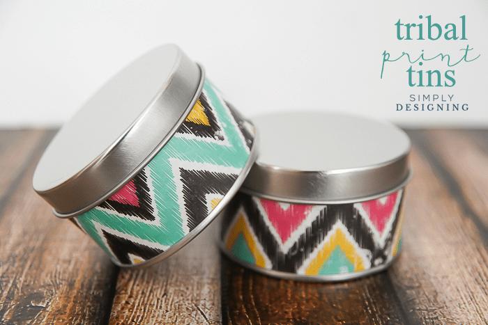 Tribal Print Tins