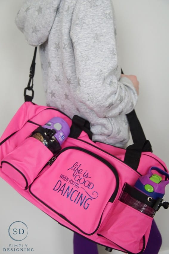 life is good when you're dancing dance bag