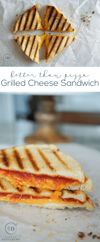 Better Than Pizza Grilled Cheese Sandwich - this one ingredients makes a normal grilled cheese extraordinary
