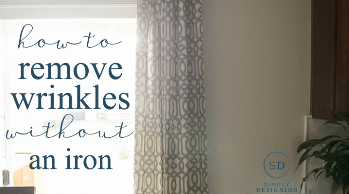 Charming How To Remove Wrinkles From Curtains Without An Iron