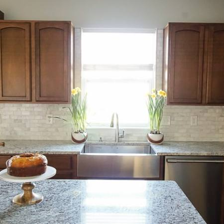 Kitchen Remodel Reveal + How to Install a Kitchen Cabinet and Apron Front Sink + How to Replace a Tile Backsplash