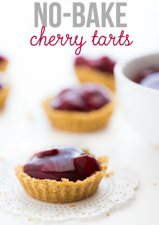 no bake cherry tart