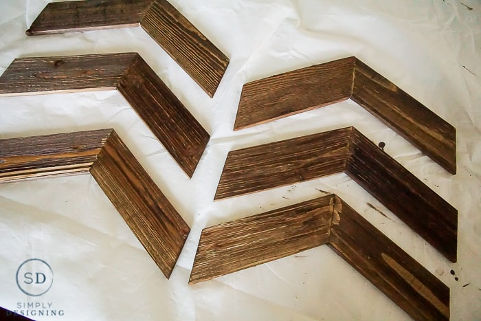 Customizable Chevron Arrow Wall Decor - stain wood