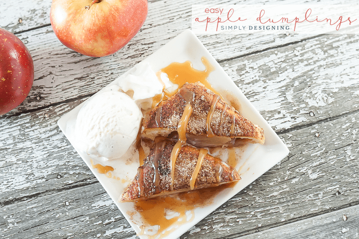 Easy Caramel Apple Dumplings