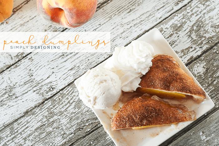 Easy Peach Dumpling Recipe