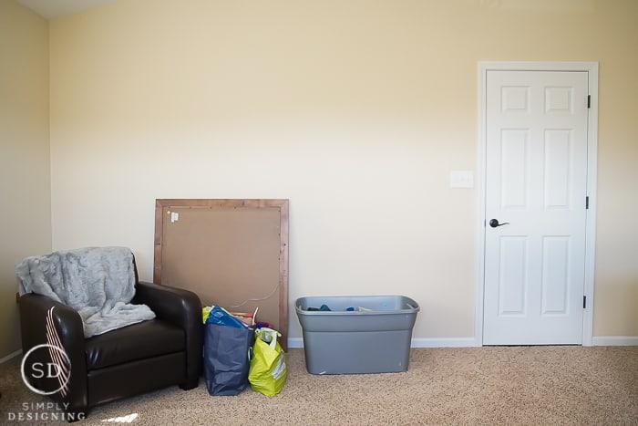 bedroom make over before