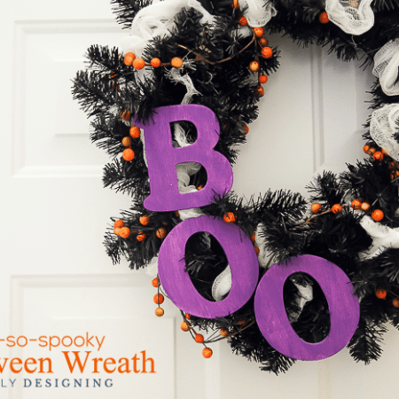 Not-So-Spooky Halloween Wreath