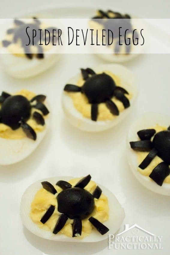 Spider Deviled Eggs by Practically Functional
