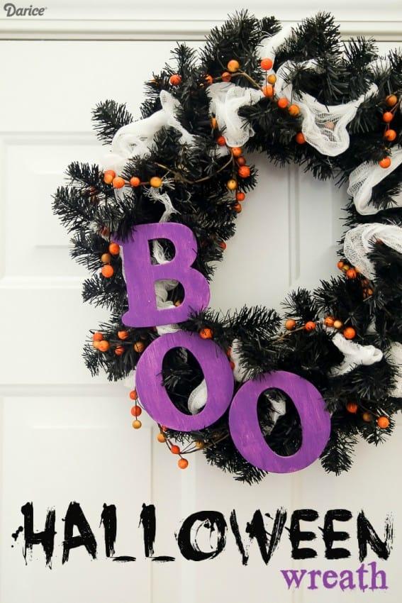 wreath diy for halloween