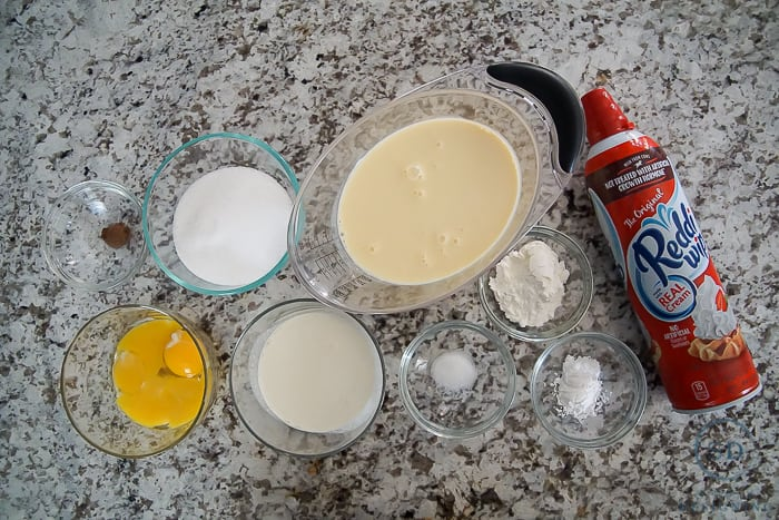 Spiced Eggnog Pudding Recipe - ingredients