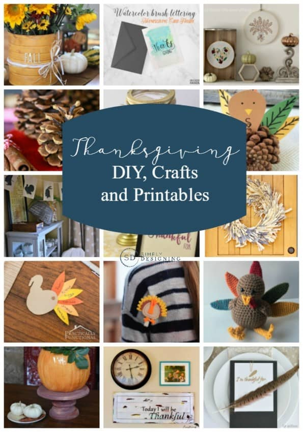Thanksgiving crafts diys and printables for Easy diy thanksgiving crafts