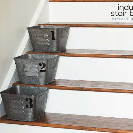 Industrial Stair Baskets