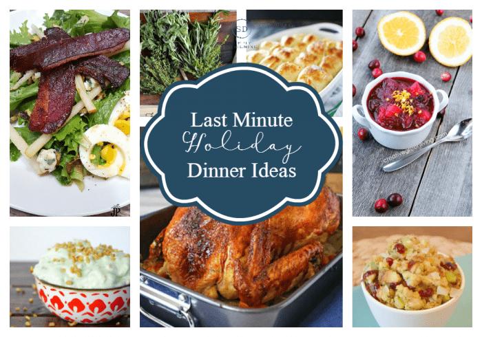 Last minute holiday dinner ideas for Xmas feast ideas