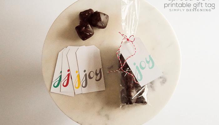 Spread Joy Printable Gift Tags