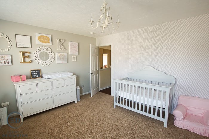 Our girls shared bedroom and a baby nursery reveal Master bedroom shared with nursery