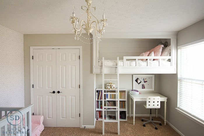 DIY Loft Bed for a Girl