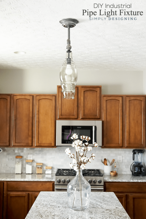 DIY Industrial Pipe Light Fixture - make this pendant light