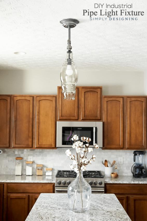 DIY Industrial Pipe Light Fixture   Make This Pendant Light