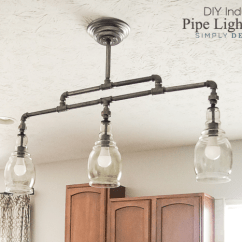 Kitchen Pendant Lights Over Island Liquidation Cabinets Diy Industrial Pipe Light Fixture