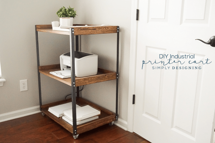 Industrial DIY Printer Cart - a quick and fun project for your office or craft room