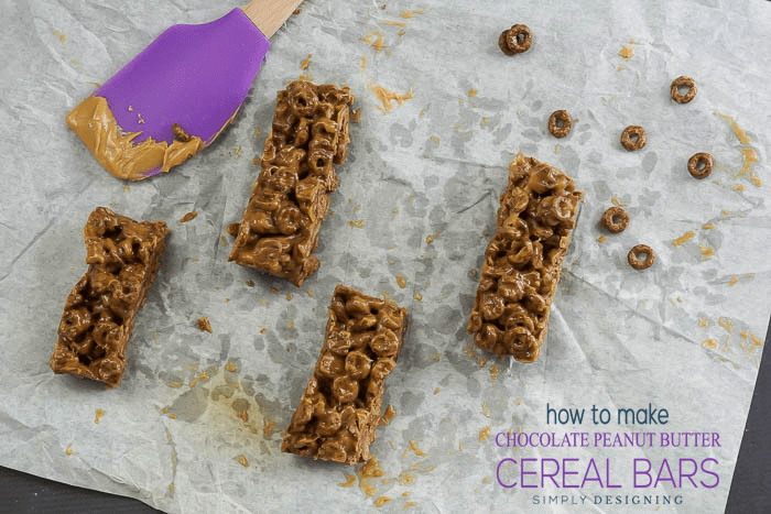 Homemade Chocolate Peanut Butter Cereal Bars