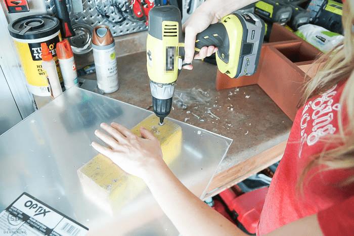 drill holes in plexiglass