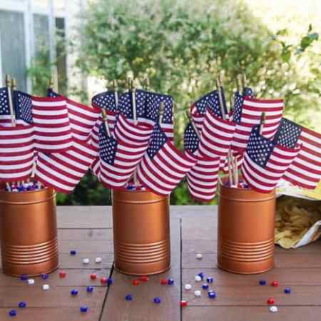 Easy Flag Centerpiece Decoration