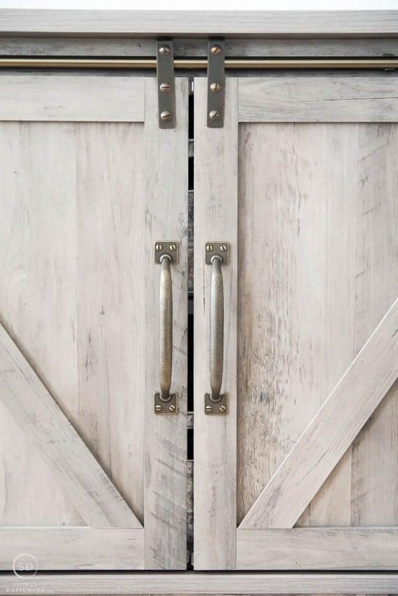 Barn Doors on Farmhouse Furniture