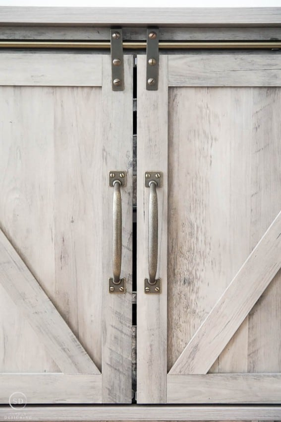 Barn Doors on Farmhouse Furniture