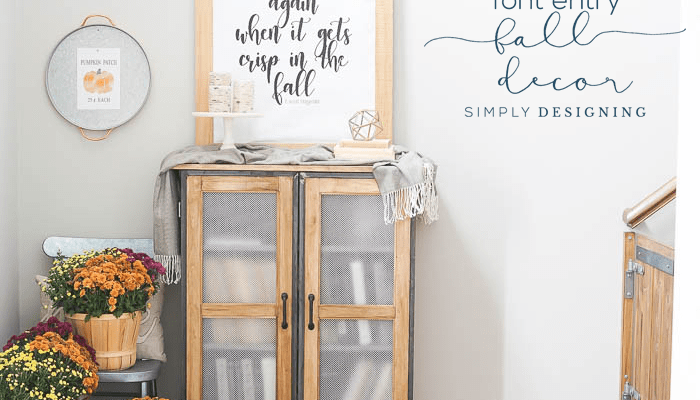 Front Entry Fall Decor + a FREE Fall Print