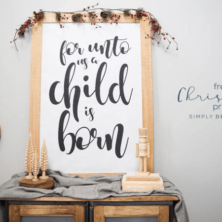 For Unto Us a Child is Born - Free Christmas Print