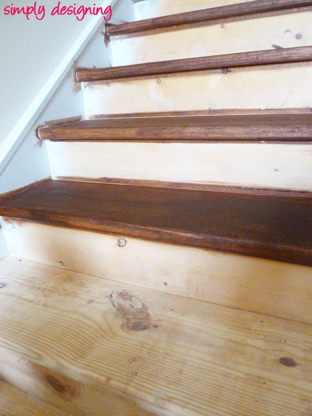 Staircase Make Over Part 2 Mistakes To Avoid And How To Do It Right | Best Wood For Stairs | Engineered Hardwood | Stairway | Engineered Wood Flooring | Staircases | Wooden Staircase
