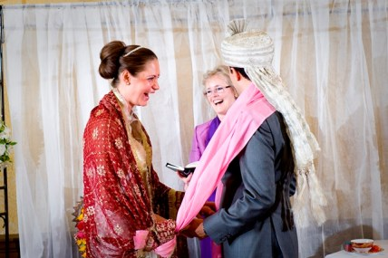 Christian/Hindu Wedding couple