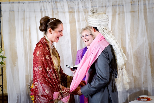 Christian/Hindu Wedding couple
