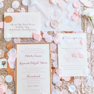 Blush Gold Wedding Invitation