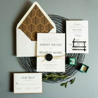 Modern Rustic Wedding Invitation