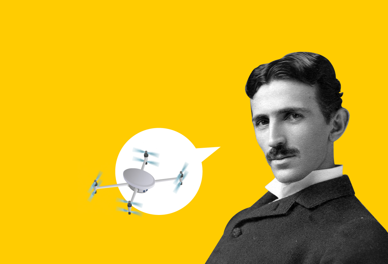 Tesla and the origin of drones