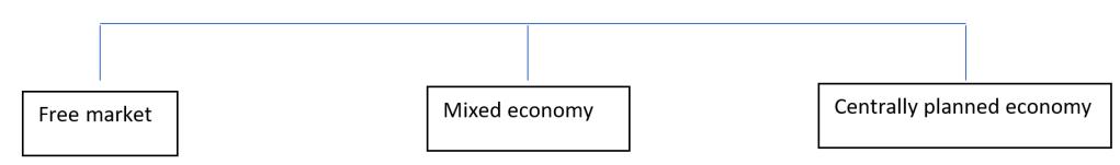 TYPES OF ECONOMIES, economy, free market, command, mixed economy