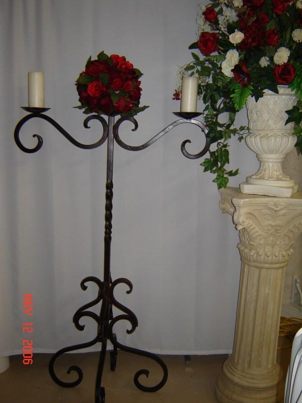 Simply Elegant Weddings Wrought Iron Candelabra Rentals