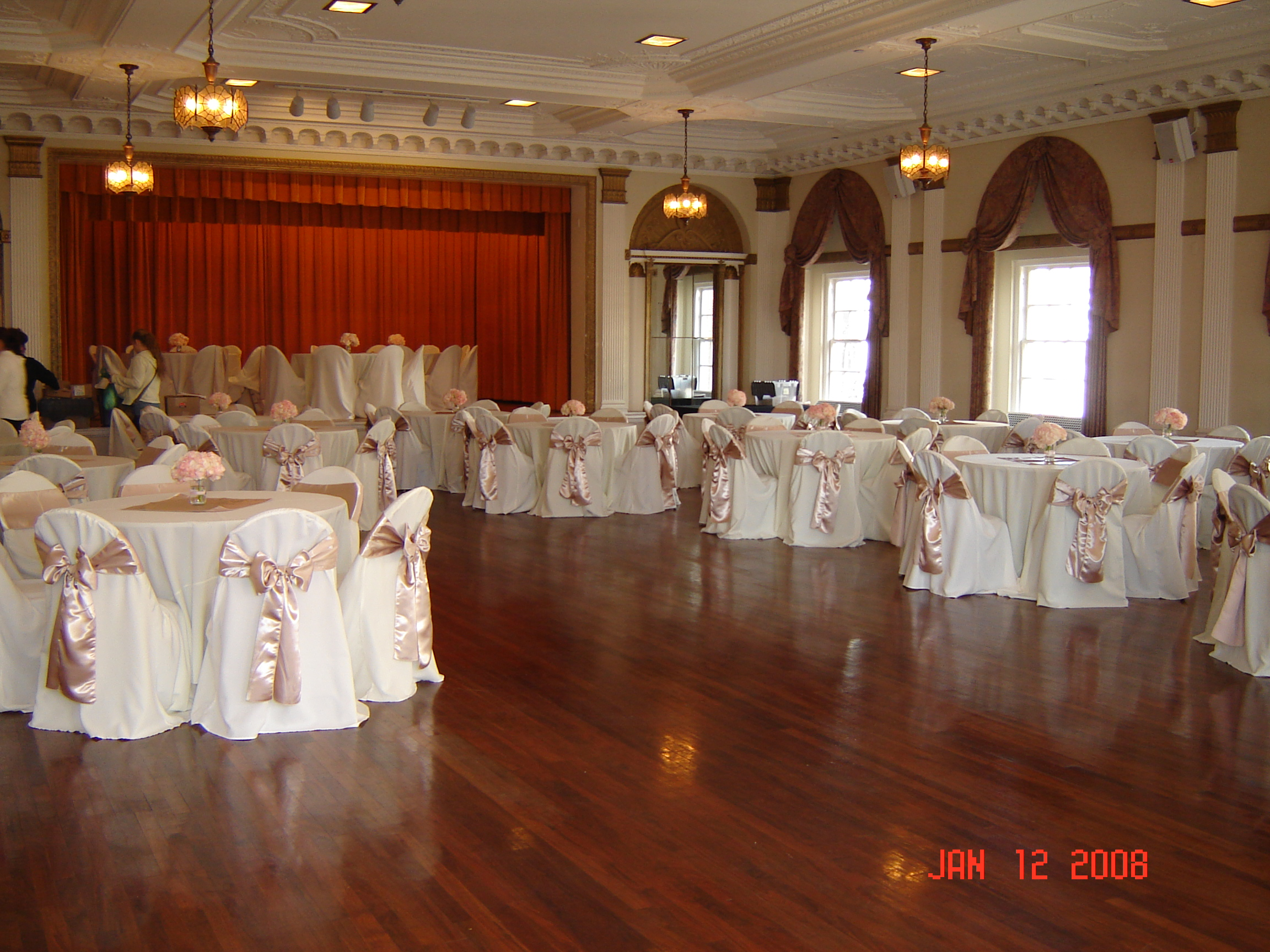 Used Banquet Chairs Simply Elegant Weddings Chair Cover Rentals Universal Polyester