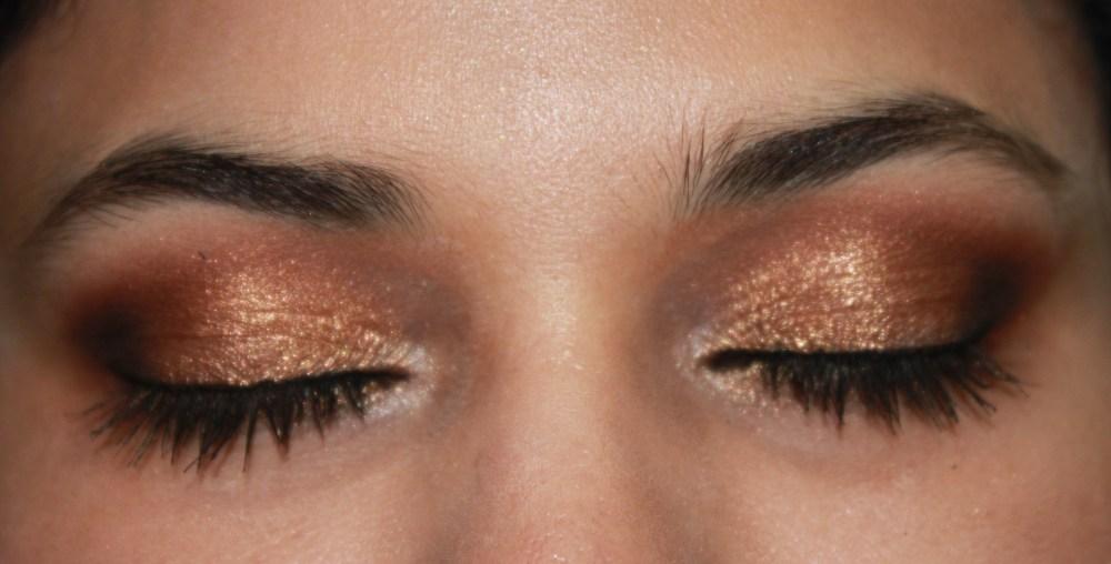LORAC Pro Palette : Muted Reddish Gold Eye Look (2/2)