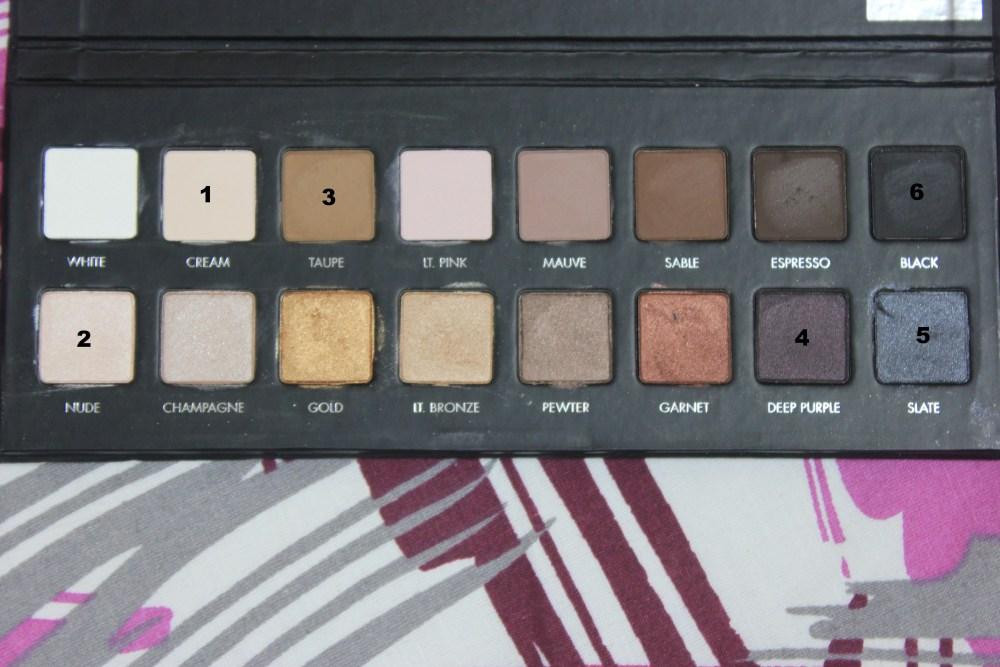LORAC Pro palette : Grey Toned Purple Eye Look (1/3)