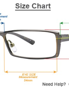 Frame size chart also information how to measure for an eyeglass rh simplyeyeglasses