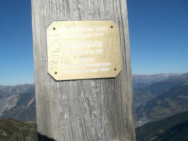 Tag 2: Geißspitze: 2.334 Meter